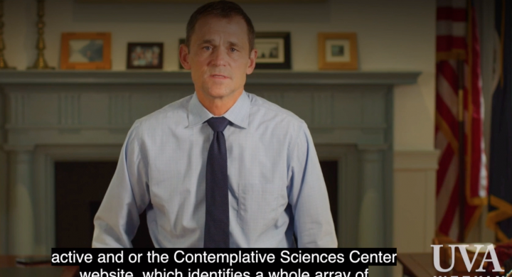 President Ryan Directs Students to the Contemplative Sciences Center