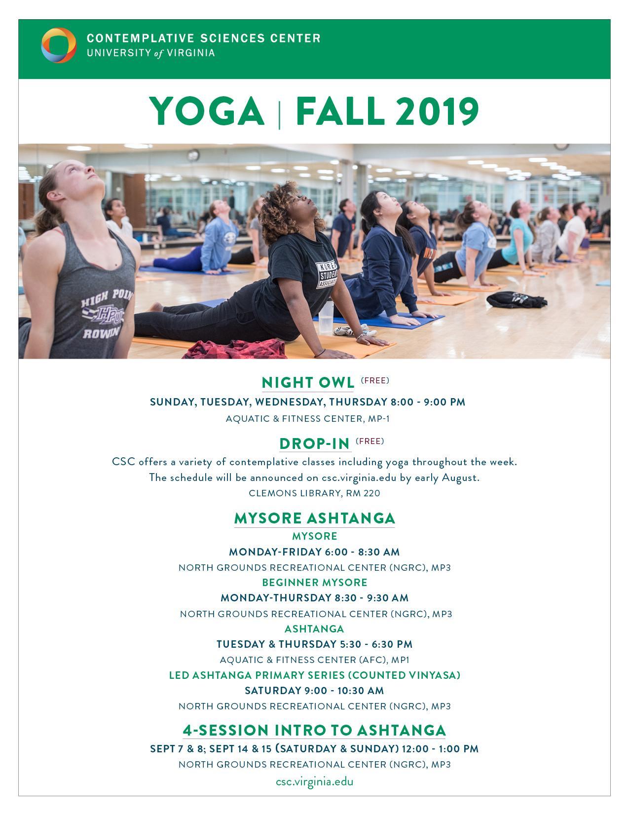 Yoga 2019 | Contemplative Sciences Center